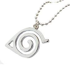 Yozone Naruto - Leaf Symbol Logo Pendant Necklace with chain - $11.77