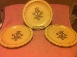 (3) Pfaltzgraff Village Dinner Plates Brown On BEIGE----FREE SHIP--VGC - $26.19