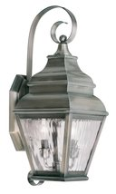 Livex Lighting 2602-29 Exeter 2-Light Outdoor Wall Lantern, Vintage Pewter - $399.90