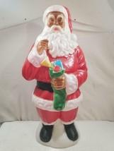 "Vintage Empire 41"" African American Black Santa Claus Blow Mold  FREE US... - $300.00"