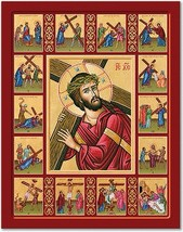 """Stations of the Cross Story Icon 11"""" x 14"""" Wooden Plaques With Lumina Gold - $81.95"""