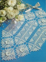 4X PATHWAYS CROWNING GLORY SPIN A YARN Crochet DOILY ROMANTIC Applique P... - $5.50