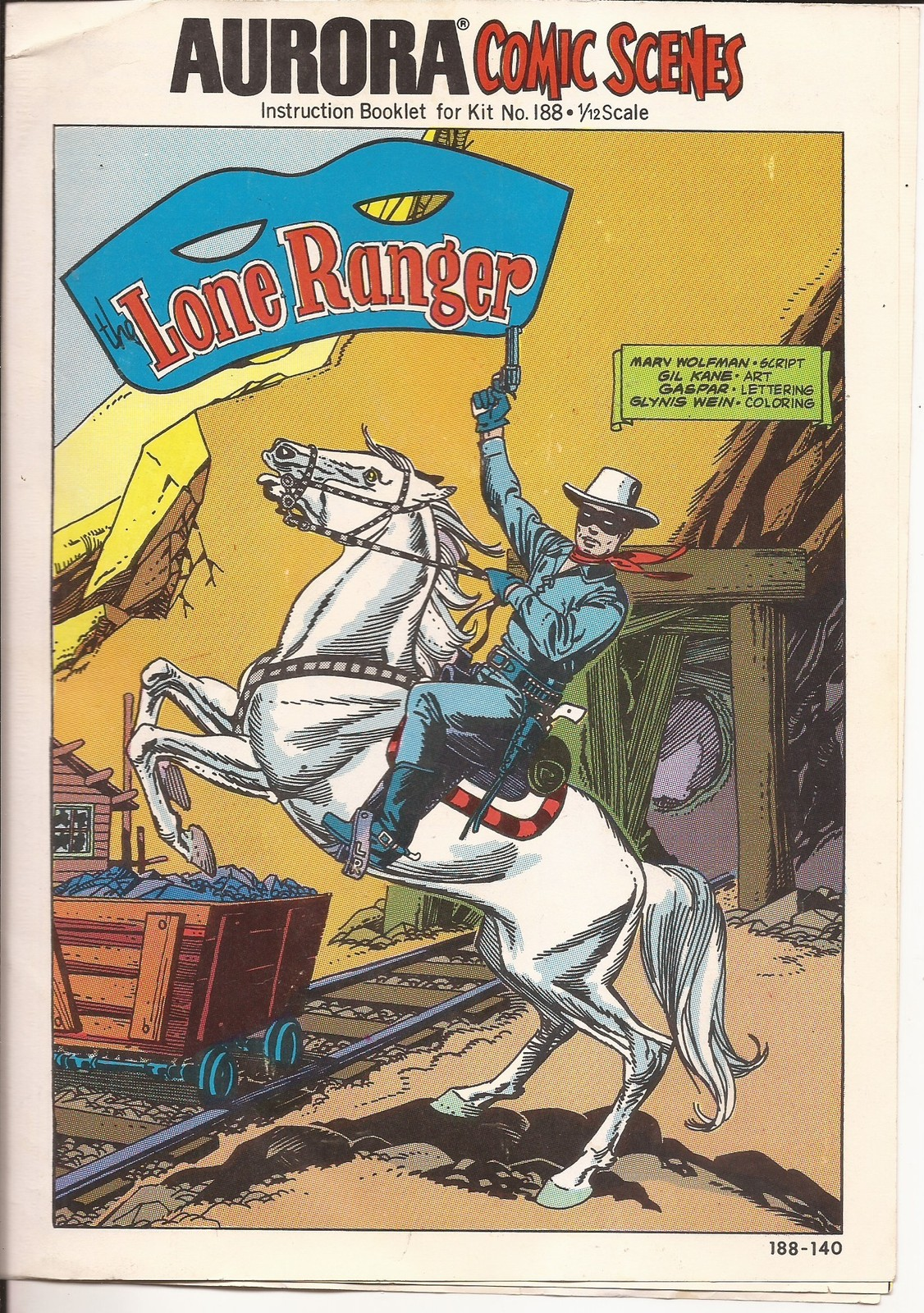 Primary image for Aurora Comic Scenes Lone Ranger Instruction Booklet Only for Kit #188