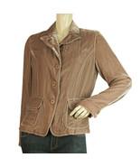Hartford silk & viscose velvet rose floral lining lightweight jacket size 2 - $132.87