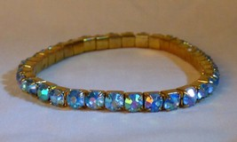Aquablue Aurora Rhinestone Stretch Tennis Bracelet Goldtone - $10.00