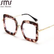 Classic Metal Frame Glasses Women Retro Anti Blue Light Glasses Frame Men Oversi image 5