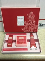 L'Occitane Roses et Reines Box Gift Set Soap Hand Cream Eau de Toilette ... - $29.99