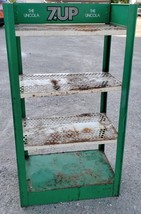 Four Tier 7-UP Soda Pop Bottle Store Advertising Display Rack 1970's Logo - $225.00