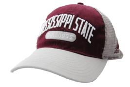 MISSISSIPPI STATE BULLDOGS ADIDAS NCAA TEAM LOGO MESH BACK SNAPBACK CAP HAT - $17.09