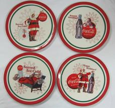 Coca-Cola Christmas Plates Set of 4 - New - $24.26