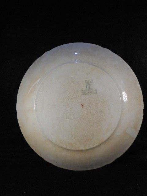"""Antique Brown German Royal Bonn Water Fowl 9 1/4"""" Plate"""