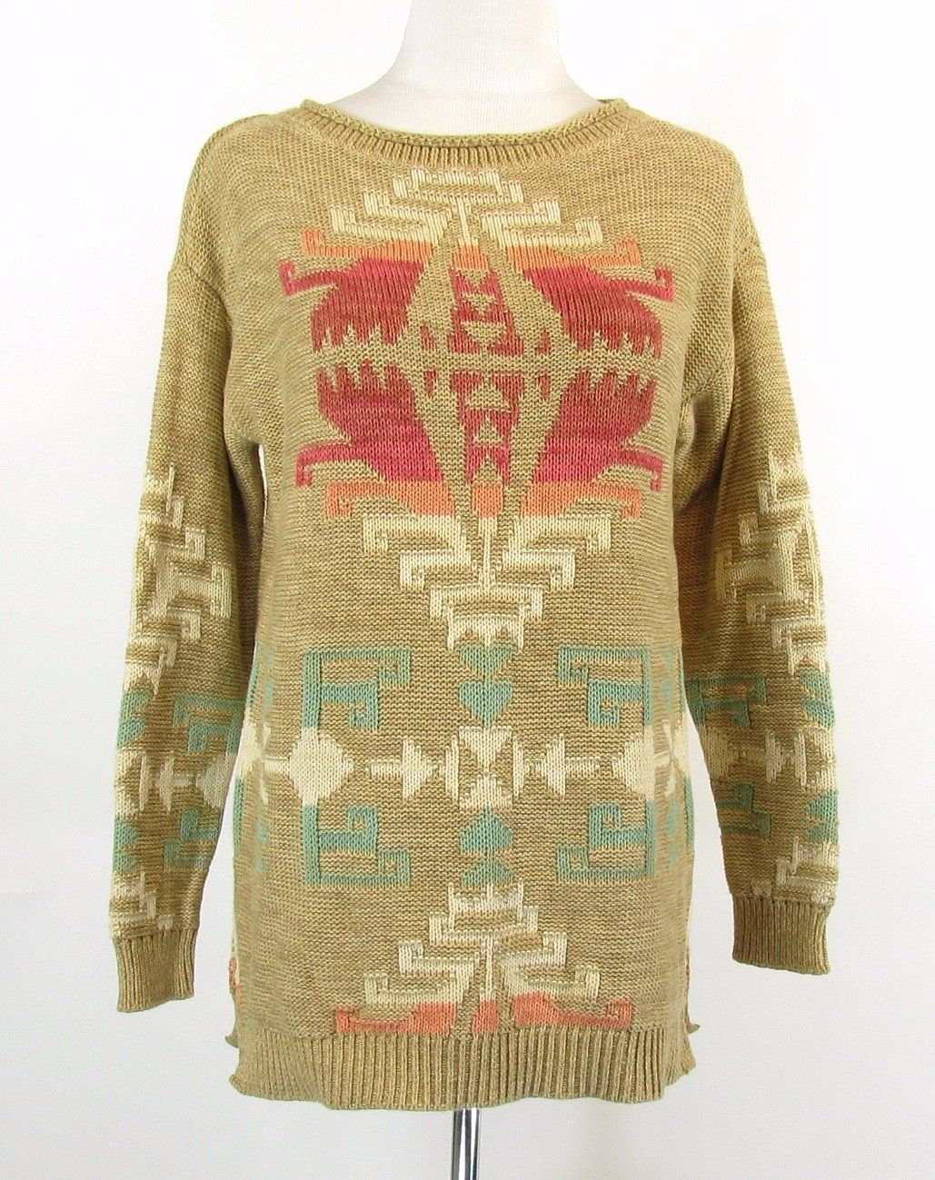 NWT RALPH LAUREN Size M Indian Southwest Cotton Blend Sweater NEW