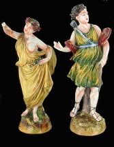 Antique Capodimonte Figurines Diana & Flora 19TH Century Italy - $157.49