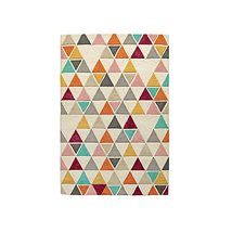 Crate and Barrel 5x8 8x10 9x12 Triangle Kids rug Handmade Wool Area rug ... - $248.00+