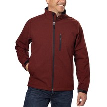 Kirkland Signature Men's Softshell Jacket , Sequoia Red Heather, Size XXL - $29.60