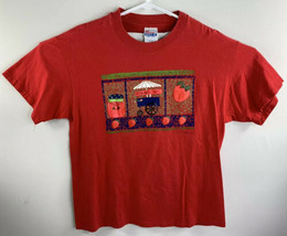Vintage 1995 90's Hanes Strawberry Cart Jelly Size Large (42-44) T-Shirt... - $19.77