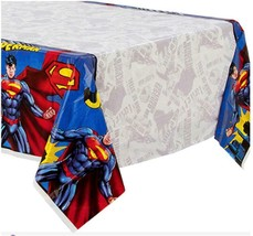 DC Superman Man Plastic Tablecover 1 Per Package Birthday Party Supplies New - $6.44