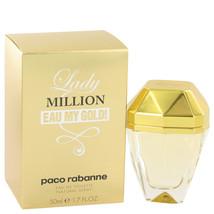 Lady Million Eau My Gold by Paco Rabanne Eau De Toilette Spray 1.7 oz fo... - $68.95