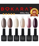 Bokarat Soak Off Gel Nail Polish UV LED ~Milky Way~ Supper Set 7.3ml x 6pcs - $21.99