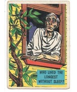 Isolation Booth Trading Card #63 Topps 1957 Who Live The Longest Without... - $2.99