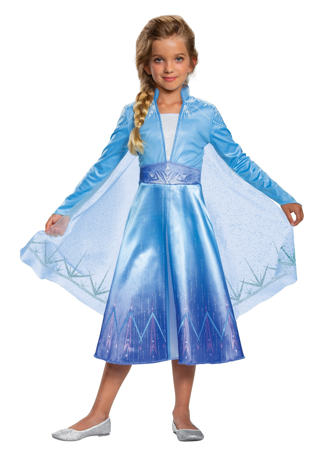 Disguise Disney Frozen 2 Elsa Deluxe Bambino Costume Halloween Nuovo IN Borsa