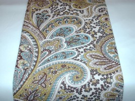 """108"""" PAISLEY TABLE RUNNER Chocolate Brown and Tan Paisley Table Runner W... - $28.00"""