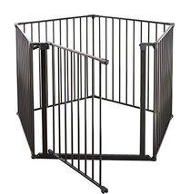 """BabyDan 3 in 1 Safety Gate Enclosure, Room Divider & Playpen - Black, 35"""" x 138"""""""