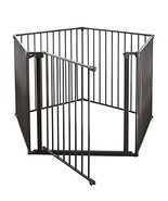 BabyDan 3 in 1 Safety Gate Enclosure, Room Divider & Playpen - Black, 35... - $167.99