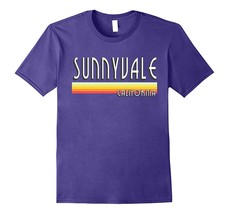 Sunnyvale California T Shirt Retro Lines Men - $17.95+