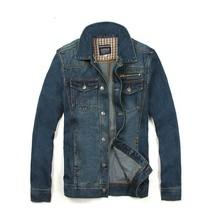 Fashion Men Jeans Jacket Man Denim Jackets Jean Outwear Coat Jaqueta Jea... - $38.04