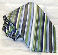 Necktie silk striped Made in Italy Jacquard Morgana brand weddings busin... - $60.00