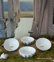 ANTHROPOLOGIE RHEA CRANE BOWLS (4) -NIB- SWOOP IN TO PICK UP COOL TABLE ... - $59.95
