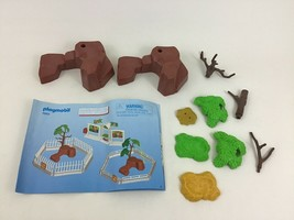 Playmobil 5969 Large Zoo Replacement Rocks Trees Greenery Toy Pieces Par... - $16.88