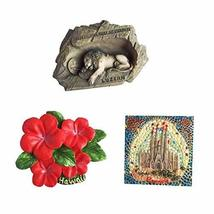 Creative Gifts Journey Edition Resin Fridge Magnets, Set of 3 - $25.39