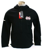 Adidas Black Mississippi State 1/2 Zip Anorak Lightweight Hooded Jacket ... - $75.74