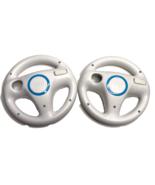 Wii Wheels Set of 2 Nintendo Official OEM White Mario Kart Racing Steeri... - $15.48