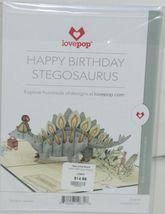 Lovepop LP2670 Happy Birthday Stegosaurus Pop Up Card White Envelope image 6