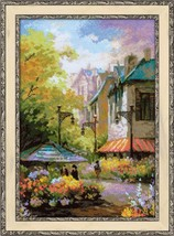 Cross Stitch Kit Riolis Flower Street - $35.00