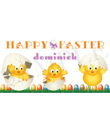 Easter Chicks Easter Basket Sticker, Waterproof and Personalized - $3.25+