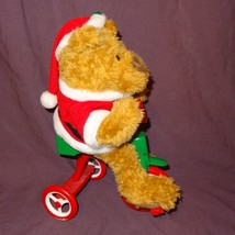 Avon Cycling Santa Teddy Bear Plush 12 Songs Rides Around on His Bike Retired - $39.91