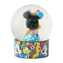 """Disney Britto Minnie Mouse Water Ball Globe w Glitter 5.12"""" Collectible Gift image 3"""