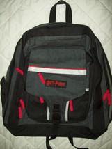 Vintage 2002 Harry Potter BackPack Black Denim Red trim  School Bag Fashion - $14.85