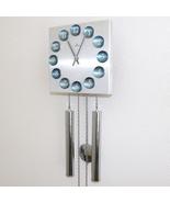 JUNGHANS Vintage Wall Clock BLUE DIAL Chrome SPACE AGE LOUDSPEAKER Chime... - $1,195.00