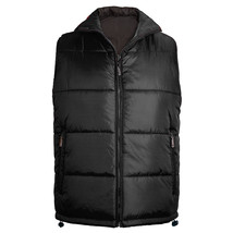 Maximos Men's Premium Zip Up Water Resistant Insulated Puffer Sport Vest Black