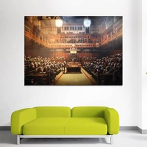 Wall Poster Art Giant Picture Print New Banksy Chimps In Parliament 1264PB - $22.99