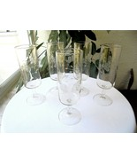 "Set of 5 Princess House Heritage Pattern Wine Flutes 6 7/8"" Tall  - £18.79 GBP"