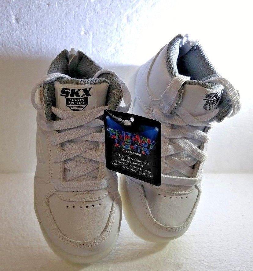 Boy's  Skechers 90630N/WHT Energy Lights Sneakers White, Size 8 (Boy's)