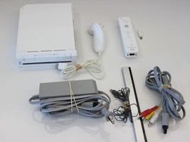 Nintendo Wii RVL-001 White Console (NTSC) WITH CONTROLLER AND POWER SUPPLY - $39.99