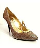 J Renee Women Metallic Olive Gold Accent Formal Stiletto Pumps Shoes Siz... - $49.49