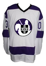 Custom Name # Cleveland Crusaders Hockey Jersey New White Cheevers Any Size image 1